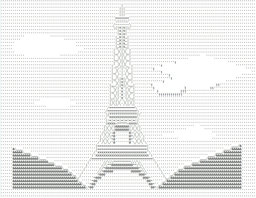 XmnQuintero.IM: ASCII Art- Eiffel Tower II