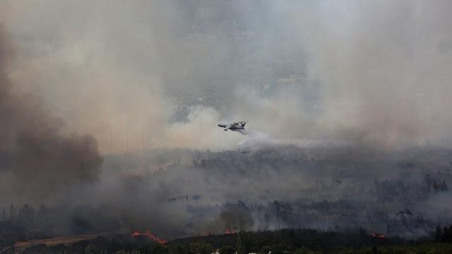 Αναζωπύρωση της πυρκαγιάς στη Μεσσηνία - Μεγάλη φωτιά στη Μάνη