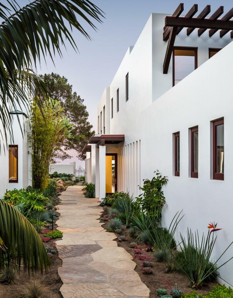 Decorar Jardim  Paisagismo moderno com pedras  Decorao