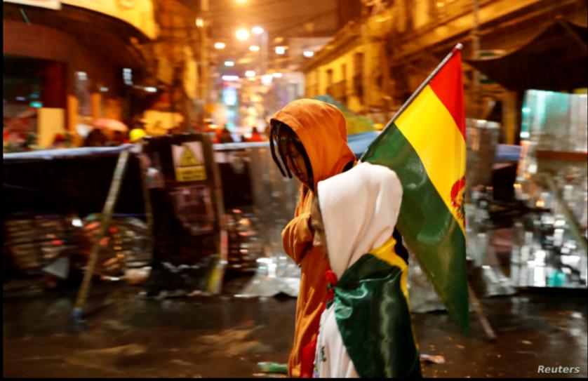 Ciudadanía movilizada en plaza Murillo durante las jornadas de noviembre de 2019 / REUTERS