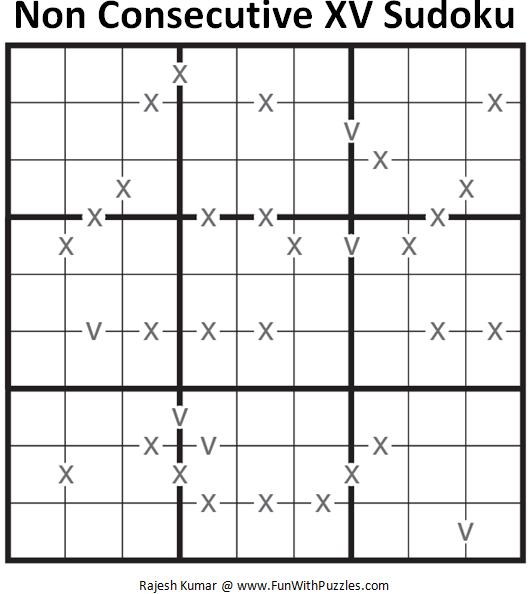Non Consecutive XV Sudoku (Fun With Sudoku #116)