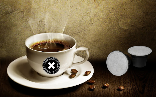 Black insomnia compostable coffee pods