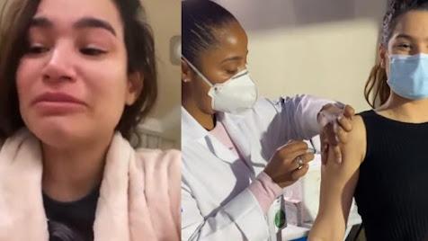 Raissa Barbosa aparece chorando