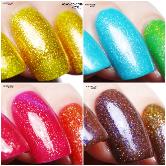 xoxoJen's swatches of Shimmer Me Box Beaches