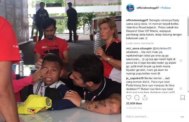 Bocah NTT Peniru Komentator MotoGP Nangis Lihat Rossi Jatuh