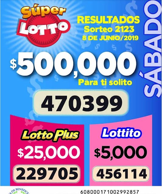 Resultados de Lotto Sorteo 2123