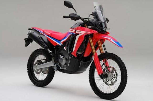 Honda CRF250 rally Indonesia tahun 2021 Warna Extreme Red