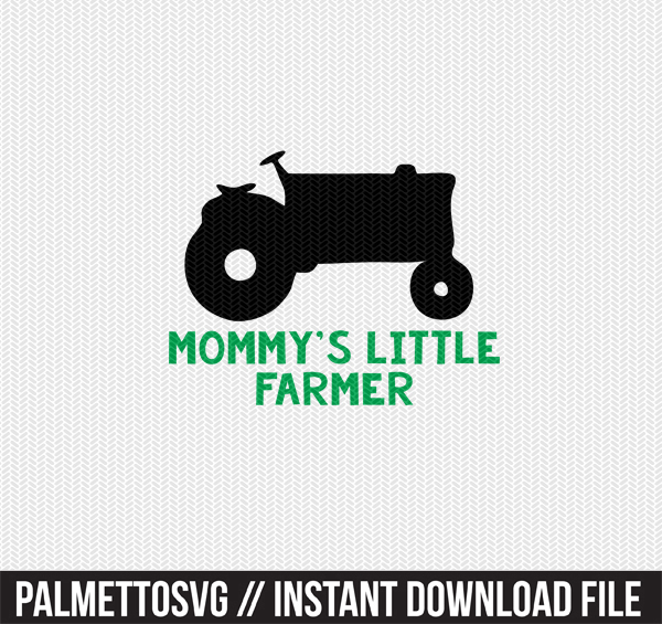 mommy's little farmer clip art svg dxf cut file silhouette cameo cricut download