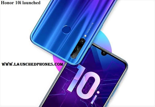 The international launch engagement in addition to pricing are non confirmed past times the companionship Honor 10i mobile weep upwards launched inwards Russian Federation