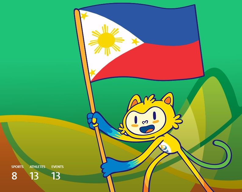 Here's the full list of sports events for the Philippines in Rio 2016
