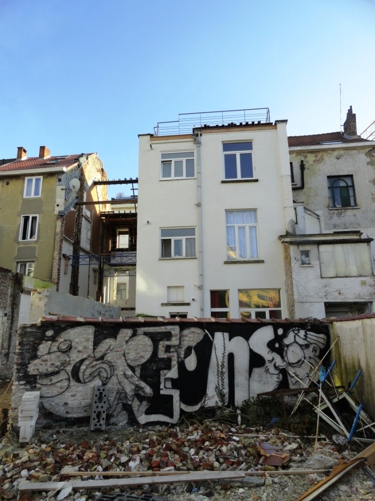 Graffiti in abandoned houses