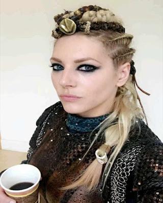 peinado vikinga halloween