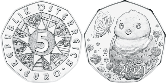 Austria 5 euro 2021 silver - Easter - A little miracle