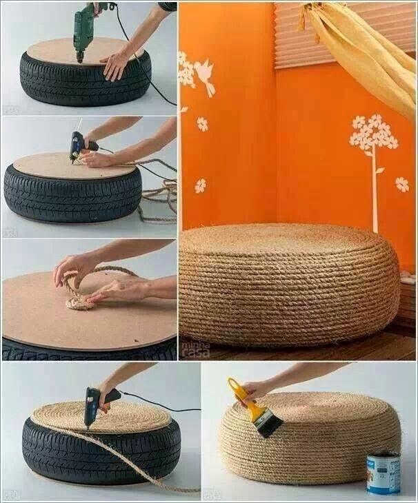 Conosciuto Tutorial arredare riciclando pneumatici. Le idee più belle dal web  JT28
