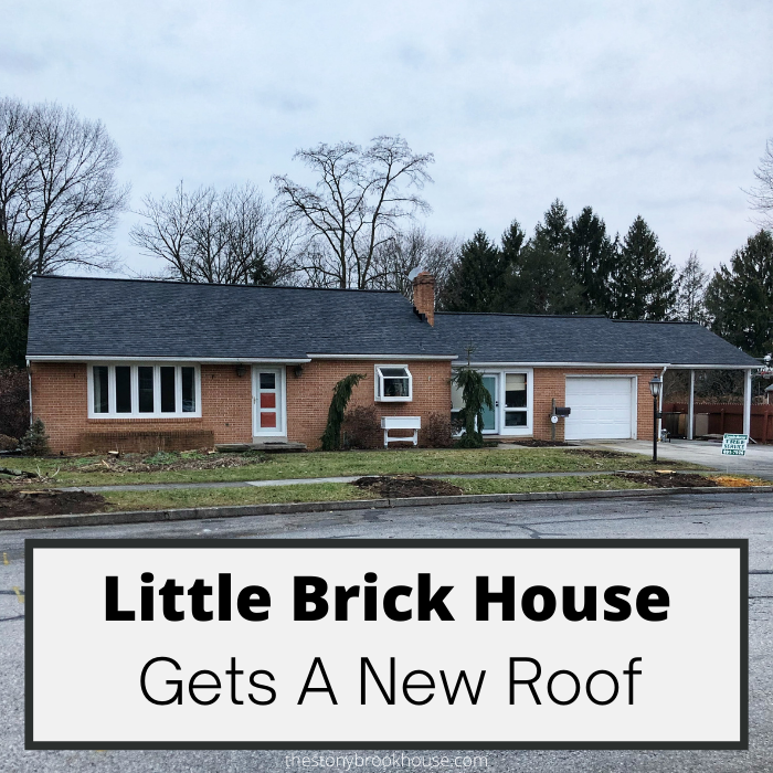 Brick House Gets A New Roof