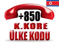 +850 Kuzey Kore ülke telefon kodu