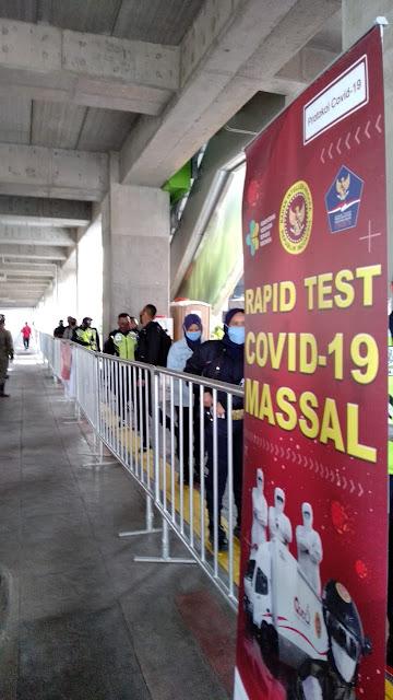 BIN Kembali Gelar Rapid Test di Kawasan MRT Blok M Jakarta