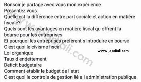 Exemple des Questions Posées Lors d'un Entretien Oral de Ministère de l'Economie et des Finances (MEF)