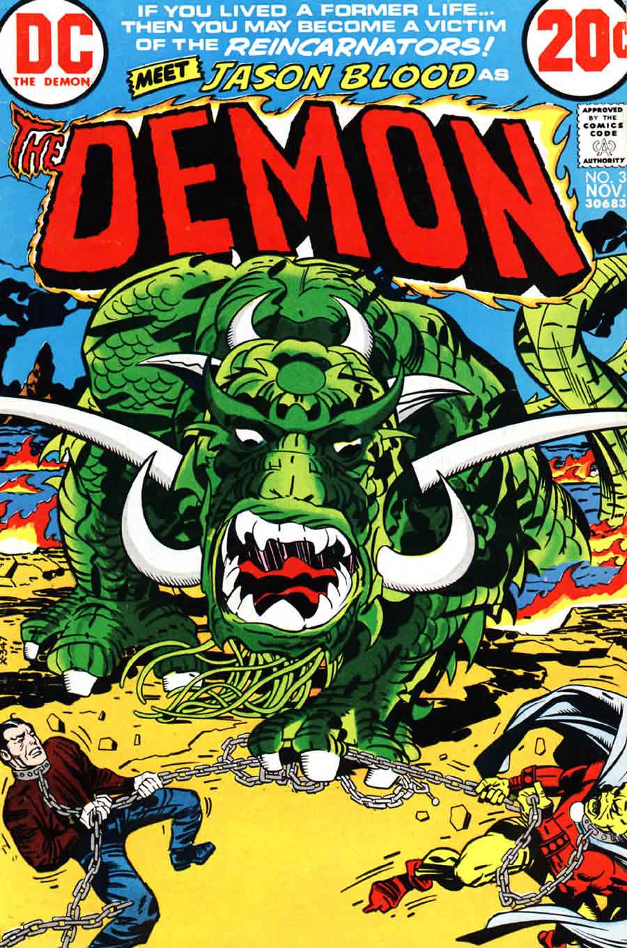 Demon v1 #3 dc bronze age comic book cover art by Jack Kirby