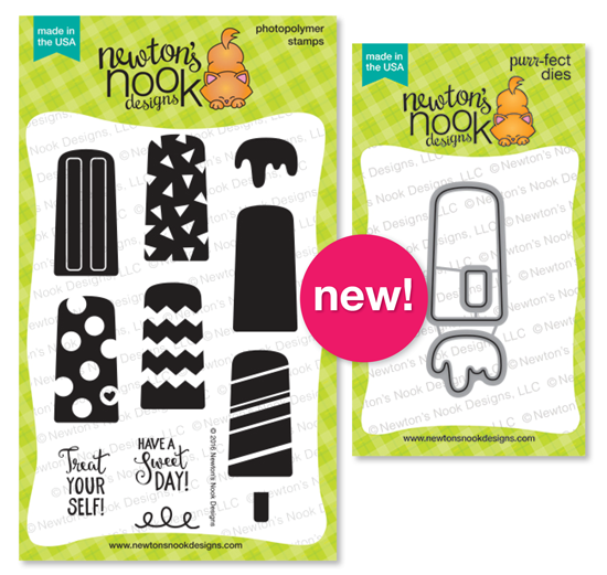 Party Pops 4 x 6 Popsicle stamp set & Die set by Newton's Nook Designs #newtonsnook