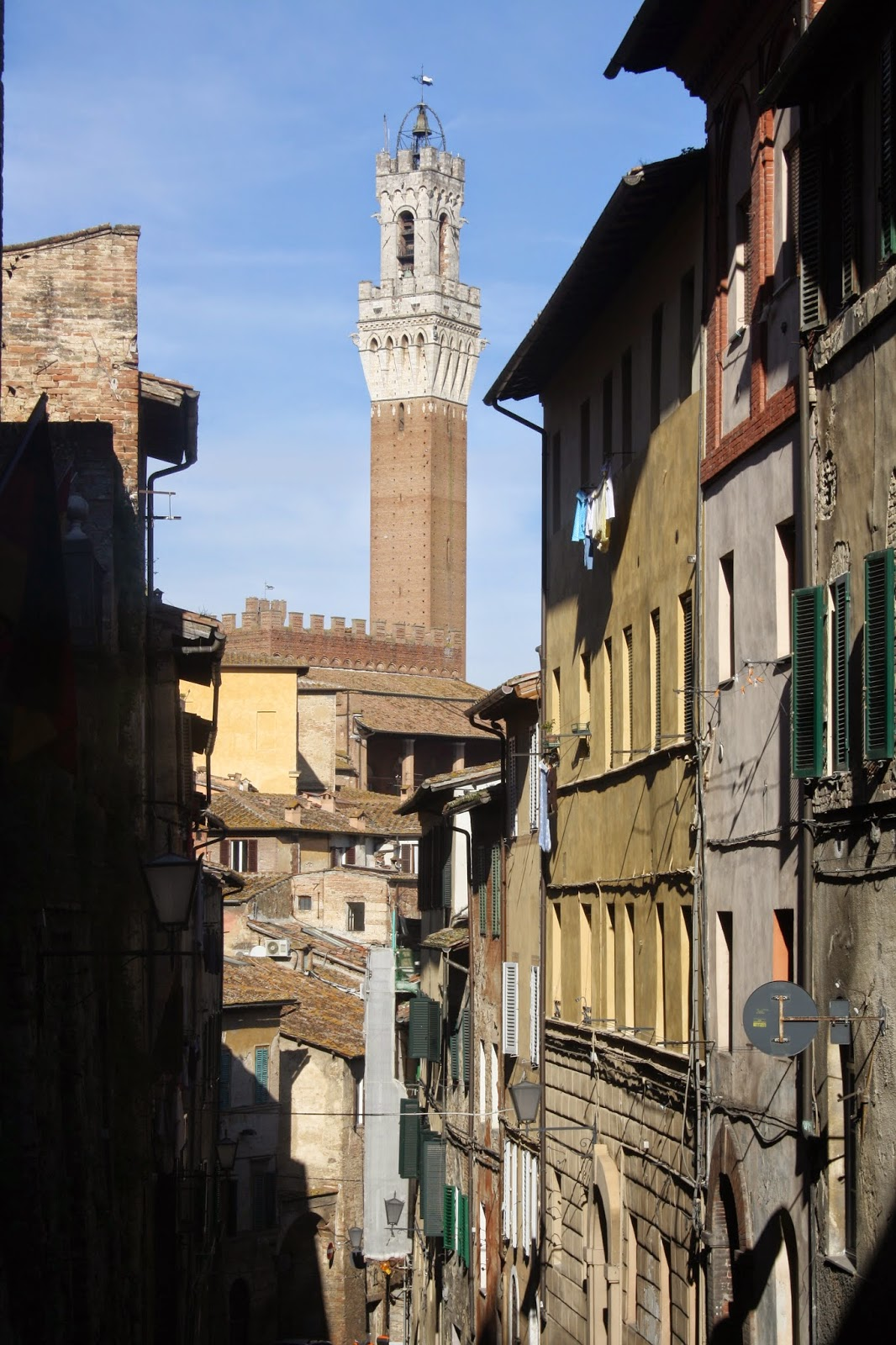Calles del centro histórico de Siena