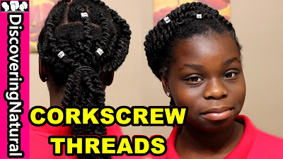 How to do Corkscrew African Threading and How to Moisturize African Threading DiscoveringNatural