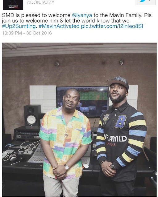 Unbelievable - Iyanya has been signed to Mavin Records