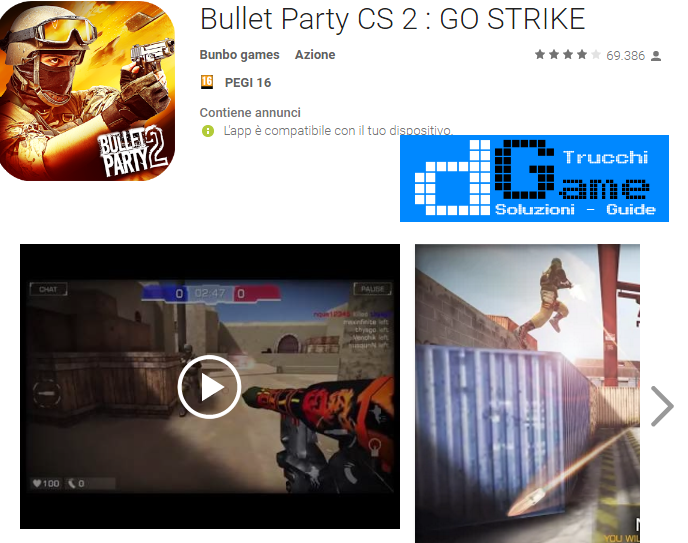 Trucchi Bullet Party CS 2 : GO STRIKE Mod Apk Android 1.2