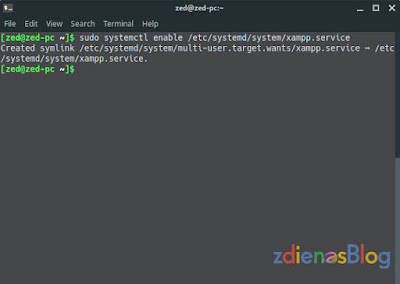 enable service - Tutorial XAMPP StartUp Otomatis di Linux Manjaro