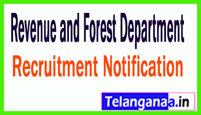 Revenue and Forest Department RFD Recruitment Notification