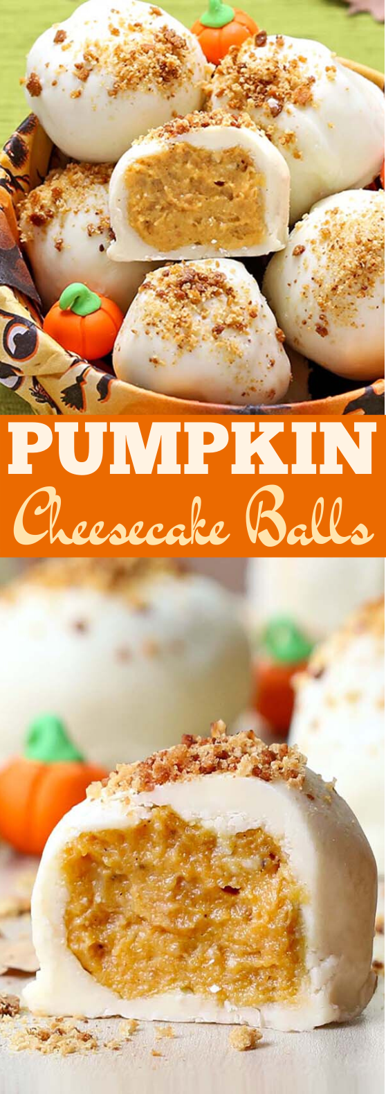 Pumpkin Cheesecake Balls #desserts #pumpkin #fall #cheesecake #recipe