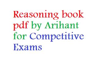 Reasoning Book pdf by Arihant