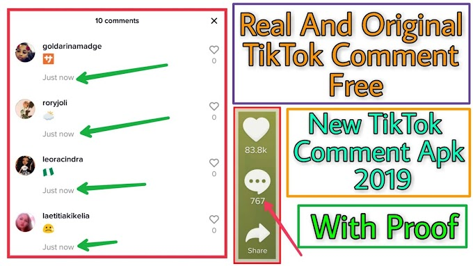 Get Real And Original TikTok Comment - How To Increase TikTok Comment 2019