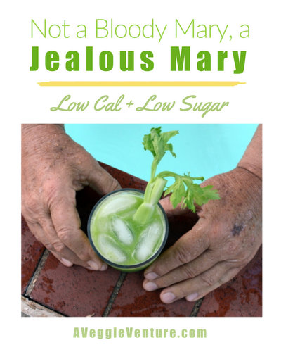 Jealous Marys ♥ AVeggieVenture.com, not a bloody mary but a low-cal, low-sugar cocktail perfect for sipping poolside on hot summer afternoons. WW Friendly. Vegan. Gluten Free.