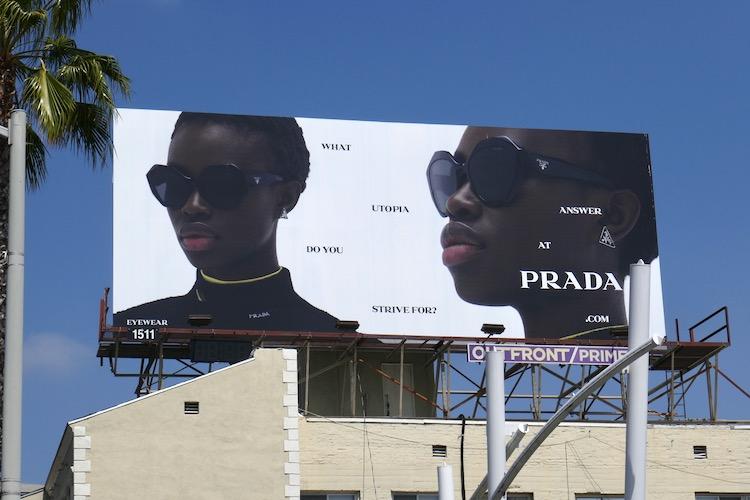 What utopia do you strive for Prada billboard