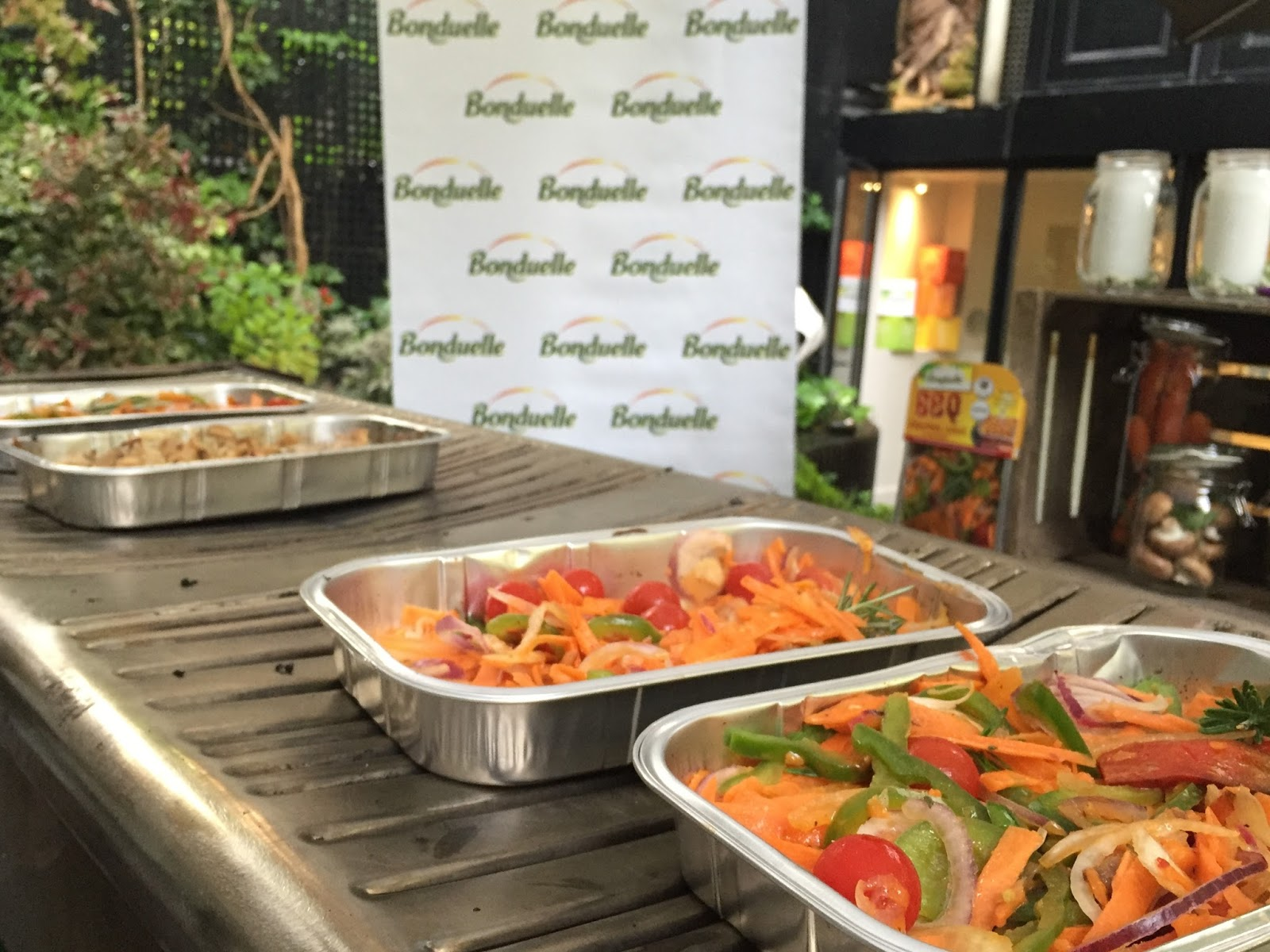 green barbecue plancha parenthese bonduelle evenement event blog food healthy vert bio légume bbq paris trocadero christian dior maison terrasse champignon manger mieux bien