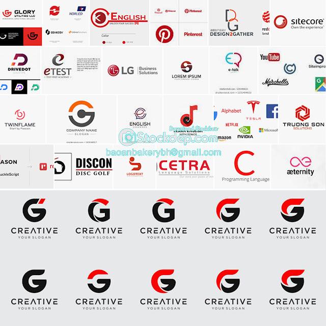 logo template G stock free