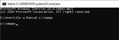 Menjalankan menggunakan Command Prompt