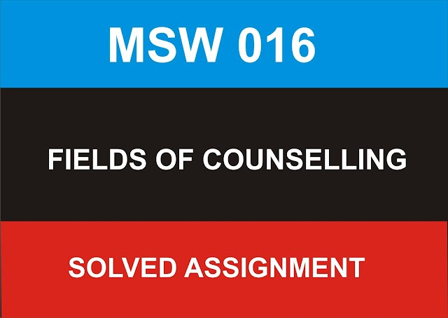 MSW 016 Solved Assignment