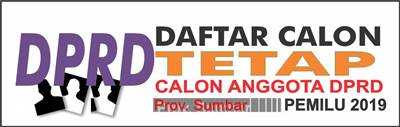 Daftar Calon Tetap DPRD Provinsi Sumatera Barat