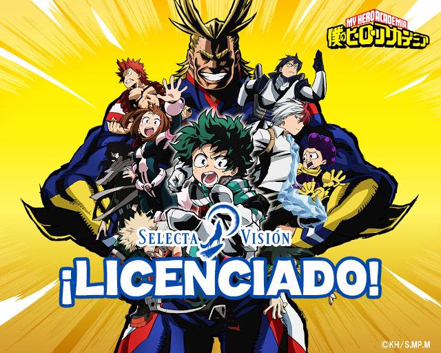 Selecta Visión licencia la primera temporada de My Hero Academia