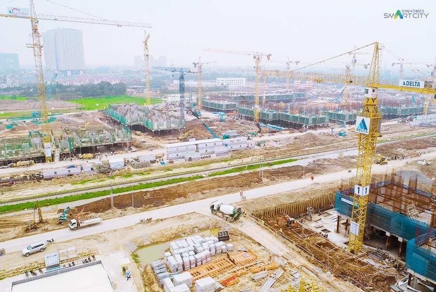 Tiến độ xây dựng mới nhất của Vinhomes Smart City