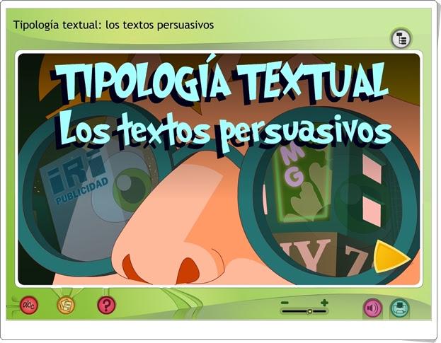 """""""Los textos persuasivos"""" (Aplicación interactiva de Lengua Española de Primaria)"""