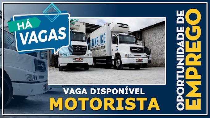 Trans Ice abre vagas para motorista 3/4, Truck, Toco e Carreta⠀