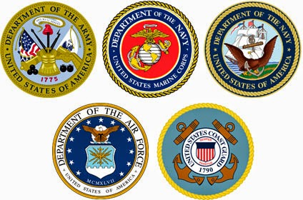5 Branches of the Military seals