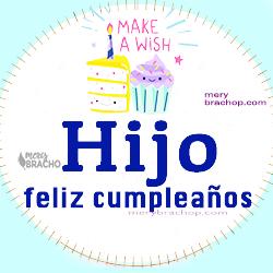 imagen tarjeta cumpleaños hijo