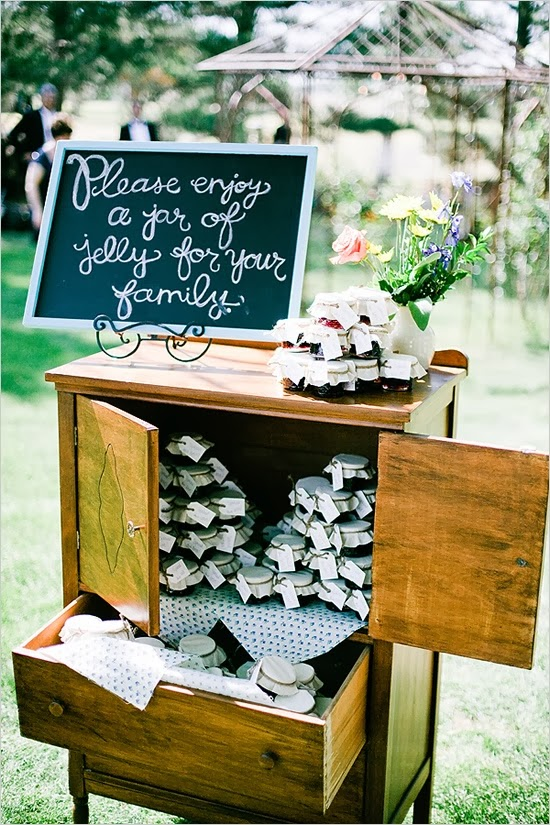 rustic wedding favor display