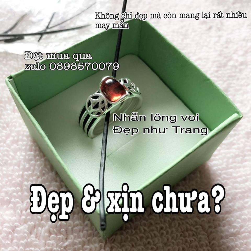Hình ảnh mẫu nhẫn lông voi cho nữ đẹp xịn tại shop Đẹp Như Trang
