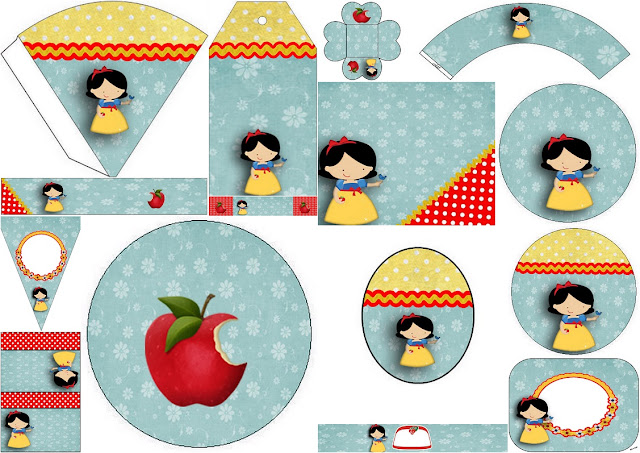 Baby Snow White: Free Printable Birthday Party Kit.