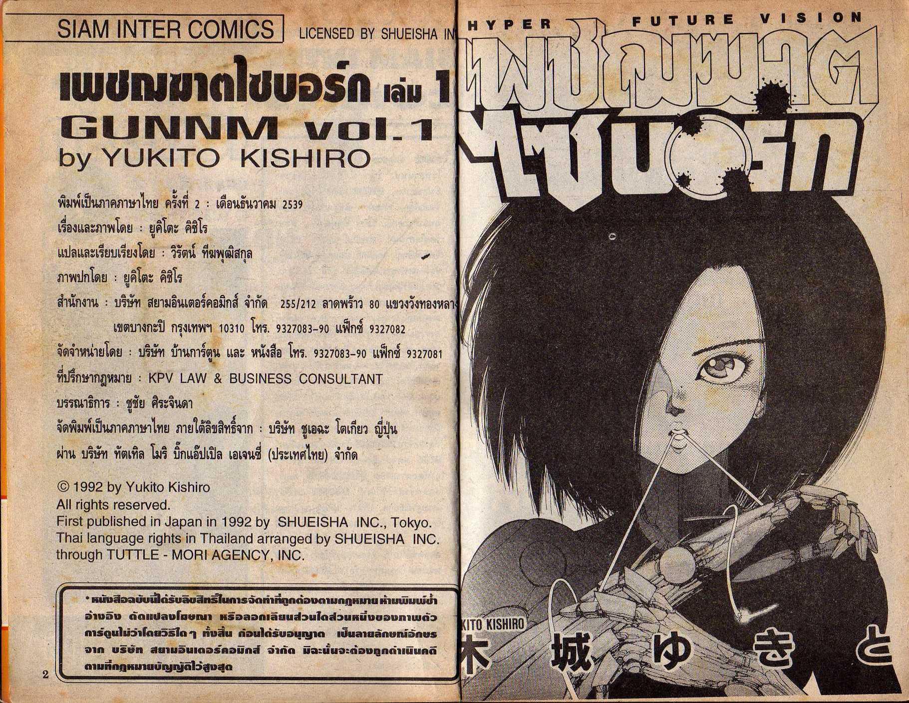 Gunnm-เล่ม 1
